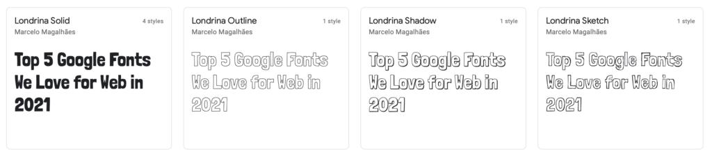 Londrina Google Font
