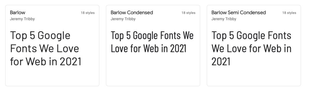 Barlow Web Font